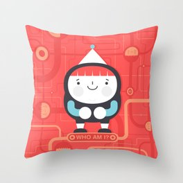Who Am i? Throw Pillow