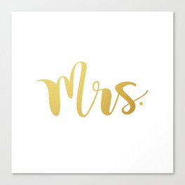 Mrs. Canvas Print