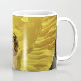 Bee in Yellow Poppy 1 Coffee Mug