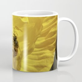 Bee in Yellow Poppy 1 Coffee Mug