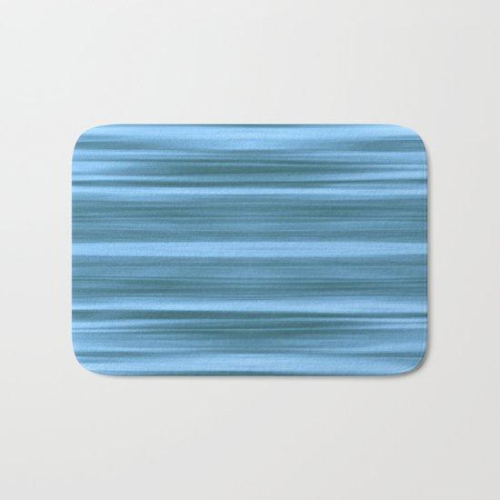 Abstraction Serenity in Ocean Bath Mat