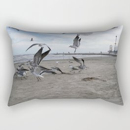 Birds by The Bay Rectangular Pillow