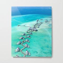 Maldives Turquoise Ocean Metal Print
