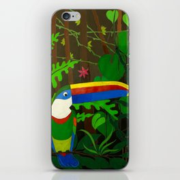 Il Tucano Pensieroso (The Thoughtful Toucan) iPhone Skin