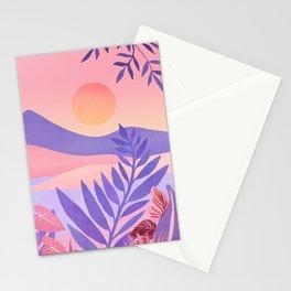 South Seas Sunrise / Tropical Landscape Stationery Cards