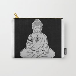 Sitting Buddha is blessing on blissful meditation Carry-All Pouch
