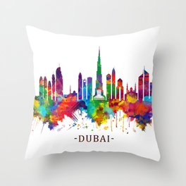 Dubai UAE Skyline Throw Pillow