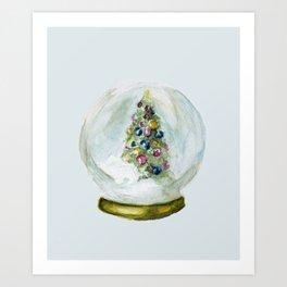 Snow Globe  Art Print