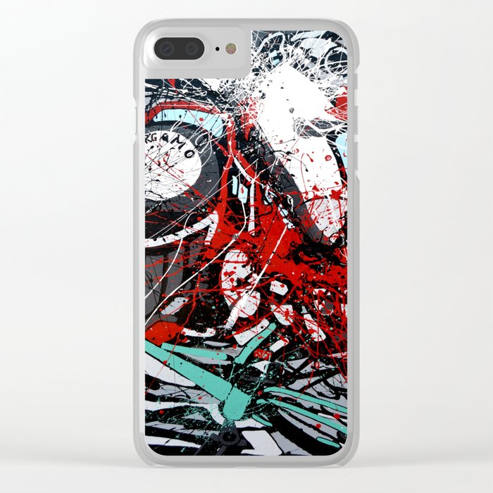 Atto di colore #4 Clear iPhone Case
