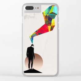 Think Colourful Clear iPhone Case