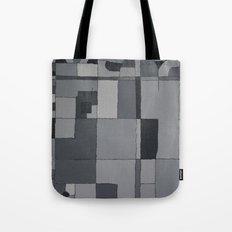 Grey Map  Tote Bag