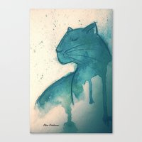 panther Canvas Prints featuring Panther by elisacalderoni92