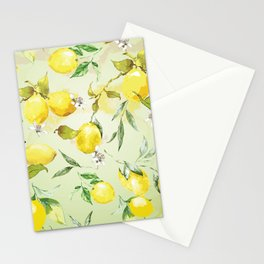 Watercolor lemons 7 Stationery Cards