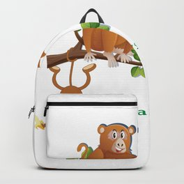 THREE MONKEYS TOGETHER AS FRIENDS T-SHIRT Backpack