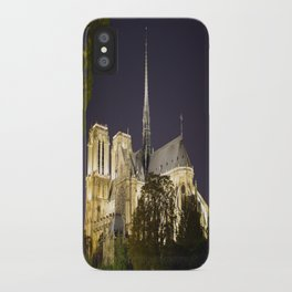 Notre Dame at Night iPhone Case