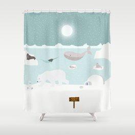 North pole Shower Curtain
