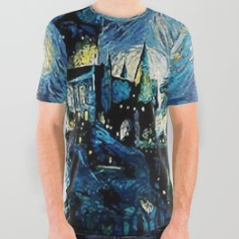 Magic Castle Starry Night All Over Graphic Tee