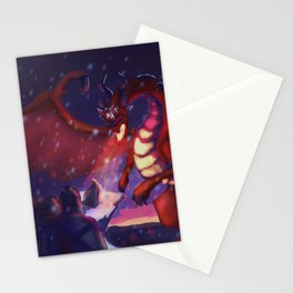 He raised his sword Stationery Cards