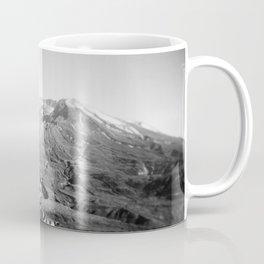 Mount St. Helens in Black and White - Holga Photograph Coffee Mug