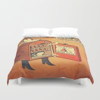 cocaine Duvet Covers featuring Cocaine Cola by TheNazzaro