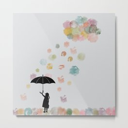 Colorful snow in Winter Metal Print
