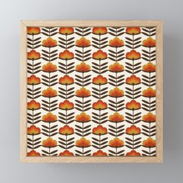 Boogie - retro florals minimal trendy 70s style throwback flower pattern Framed Mini Art Print