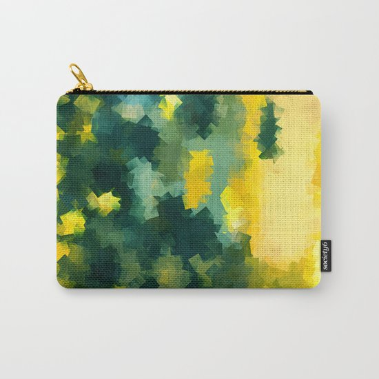 Squares Pattern #Yellow #Green #Mint #2 Carry-All Pouch