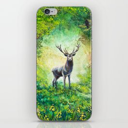 Stag In A Forest iPhone Skin