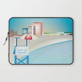 Atlantic City, New Jersey - Skyline Illustration by Loose Petals Laptop Sleeve