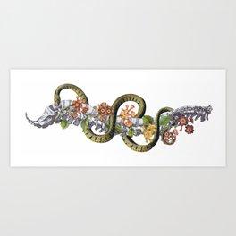 Snake (Landscape) Art Print