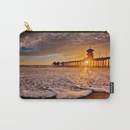 Surf City Sunsets -  Sunset At The Huntington Beach Pier 3/4/16 Carry-All Pouch