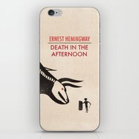 hemingway iPhone & iPod Skins featuring Death in the afternoon by Wharton