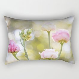 Rose Bokeh Rectangular Pillow