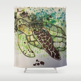 Hawksbill Sea Turtle Shower Curtain