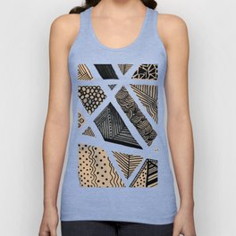Geometric doodle pattern - neutral Unisex Tank Top
