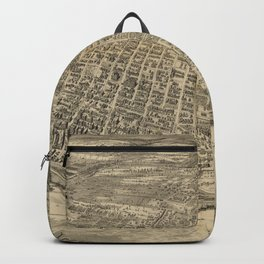 Vintage Pictorial Map of Tacoma WA (1893) Backpack