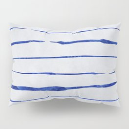 Blue Wiggly Stripes Pattern Pillow Sham