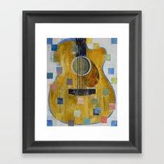 King of Guitars Framed Art Print