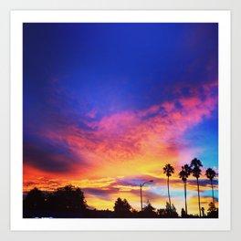 California Sunrising Art Print