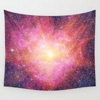 interstellar Wall Tapestries featuring Interstellar Nebula by Space99