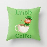 irish Throw Pillows featuring Irish Coffee by Supergna