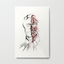 Two Face - Splatter Artwork Metal Print