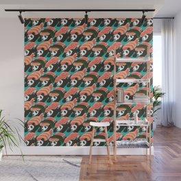 Sushi Panda Pattern Wall Mural