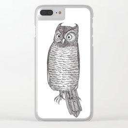 Indignant Screech Owl Clear iPhone Case