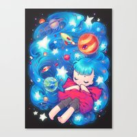 barachan Canvas Prints featuring space by barachan