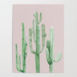 Three Amigos Green + Pink Poster