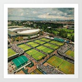 Wimbledon & London Art Print