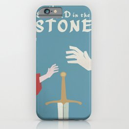 The sword in the stone, minimalist movie poster, animated film, King Arthur, Merlin, retro playbill iPhone Case