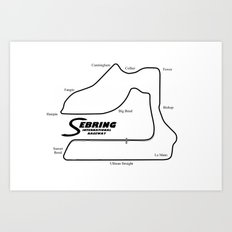 RennSport Shrine Series: Sebring Edition Art Print