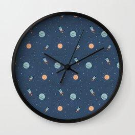 Space cartoon pattern Wall Clock